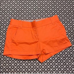 ORANGE JCREW CHINO SHORTS